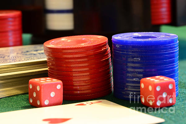 Paul Ward Photograph - Poker Chips by Paul Ward