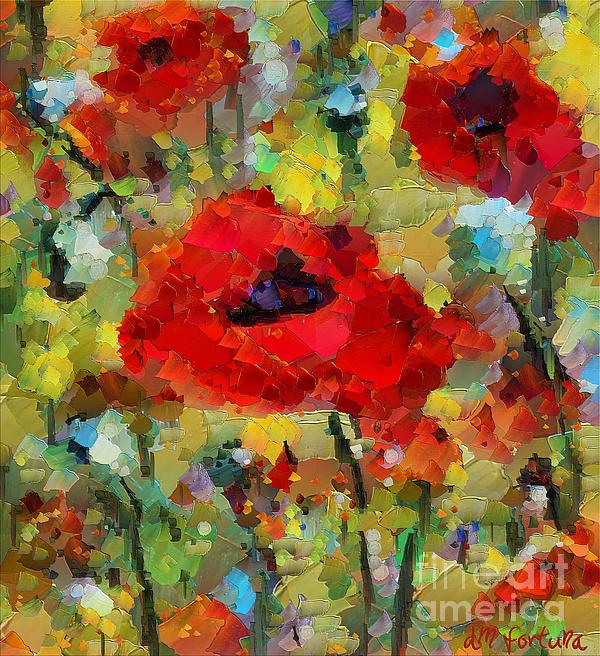 Flowers Mixed Media - Poppies by Dragica  Micki Fortuna