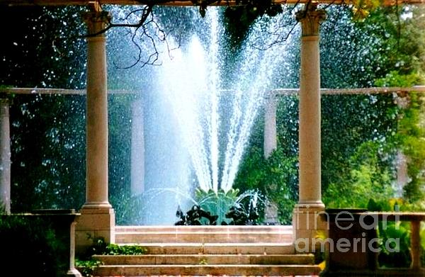 New Orleans Fountain Greeting Cards Photograph - Popps Fountain At City Park In New Orleans Louisiana by Michael Hoard