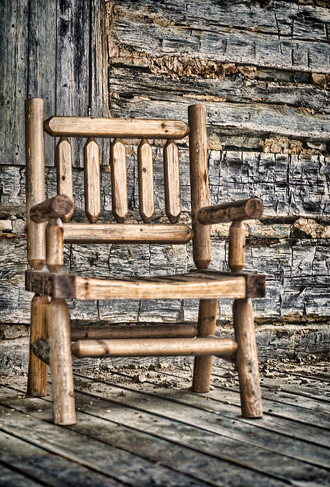 Wooden Photograph - Porch Chair by Heather Applegate