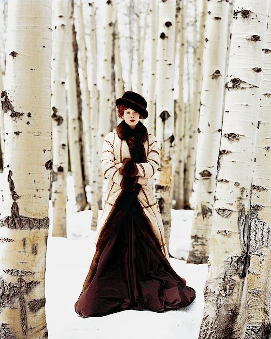 Karen Elson Models Gaultier Photograph by Arthur Elgort
