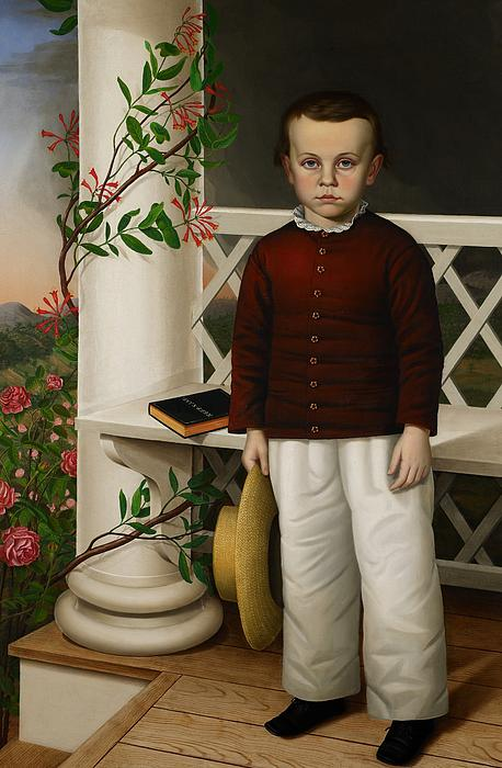Portrait Painting - Portrait Of A Boy by James B Read