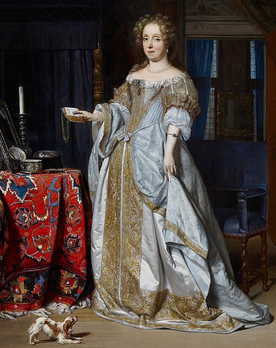 Portrait Painting - Portrait Of A Lady by Gabriel Metsu