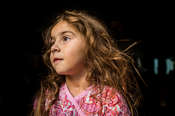 Portrait Of A Young Girl. Photograph by Fran Polito