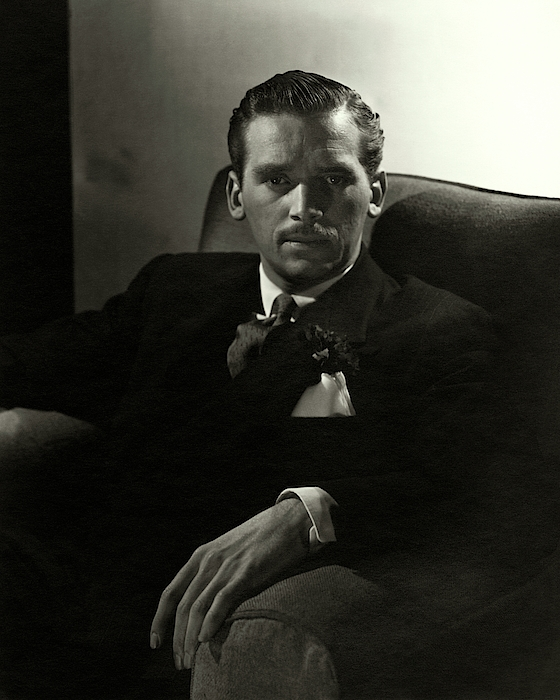 Portrait Of Douglas Fairbanks Jr Photograph by Horst P. Horst