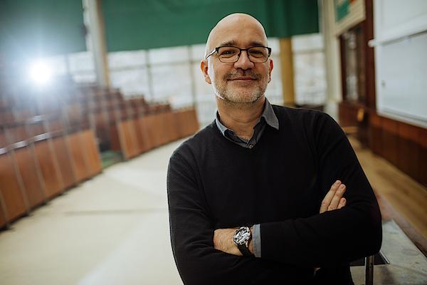 Portrait of smiling professor in the amphitheater Photograph by AleksandarNakic