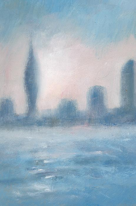 Painting - Portsmouth Dawn Part Three by Alan Daysh