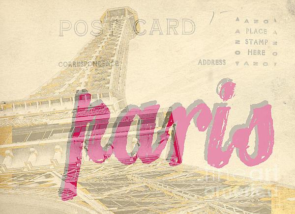 Eiffel Photograph - Postcard From Paris by Edward Fielding