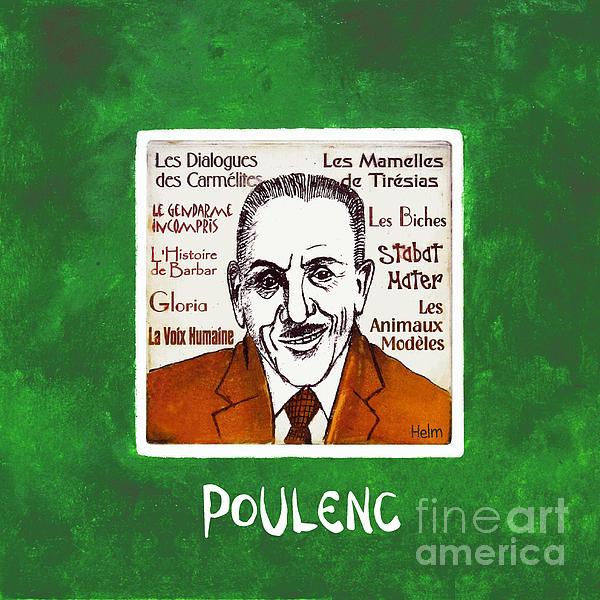 Poulenc Drawing - Poulenc by Paul Helm