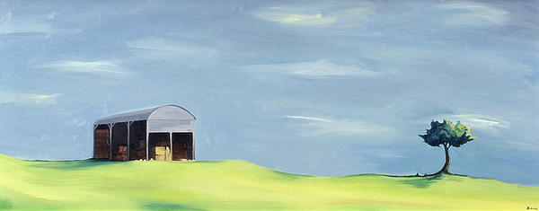Hilly Painting - Poulton Fields  by Ana Bianchi