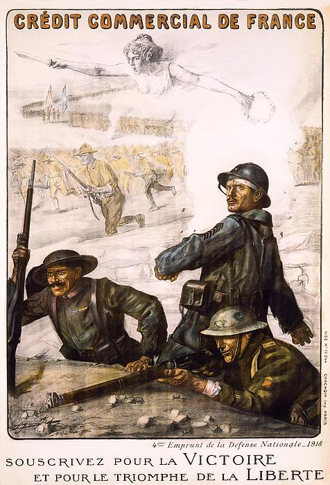 World War Photograph - Pour La Victoire - W W 1 - 1918 by Daniel Hagerman
