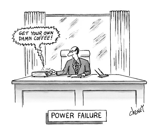Power Failure Drawing by Tom Cheney