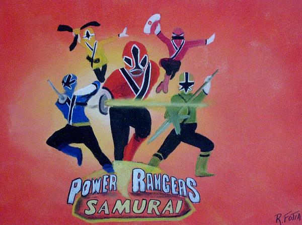 Power Rangers Samurai Painting - Power Rangers Samurai by Rich Fotia