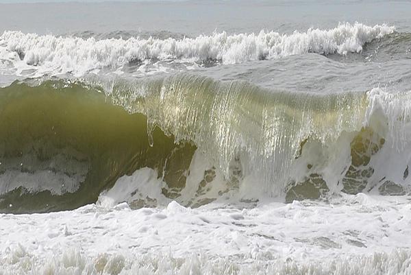 Beach Photograph - Powerful Wave by Michele Kaiser