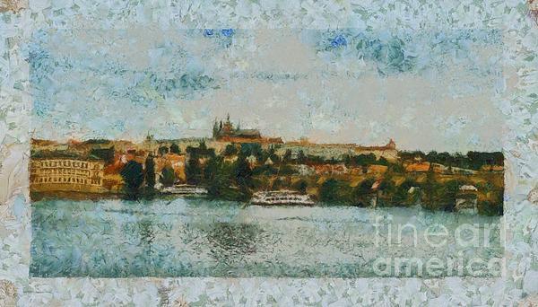 Prague Photograph - Prague Castle Over The River by Dana Hermanova