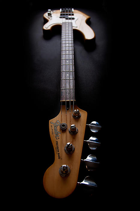 Bass Guitar Photograph - Precision Perspective by Peter Tellone