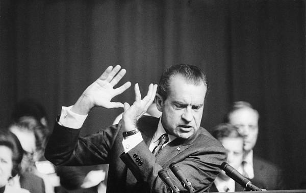 History Photograph - President Richard Nixon Gesturing by Everett