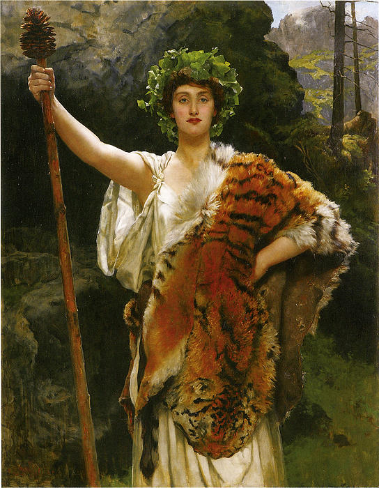 John Collier Digital Art - Priestess Bacchus by John Collier
