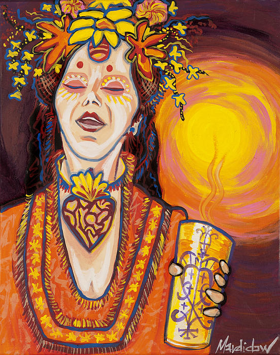 New Orleans Artists Painting - Priestess by Mardi Claw