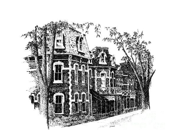 Architecture Drawing - Prince Of Wales Hotel by Steve Knapp