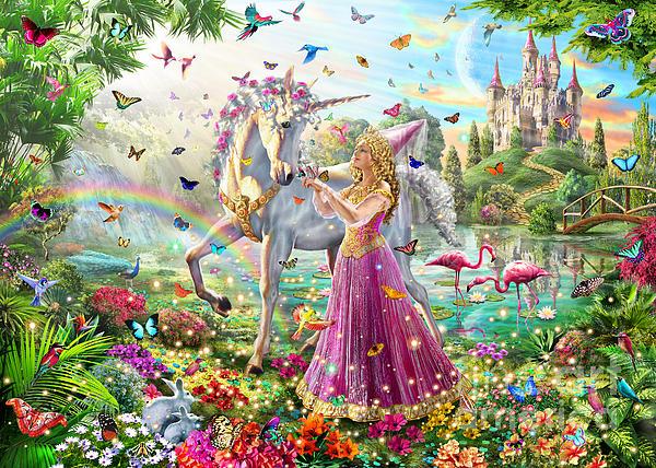 Adrian Chesterman Digital Art - Princess And The Unicorn by Adrian Chesterman
