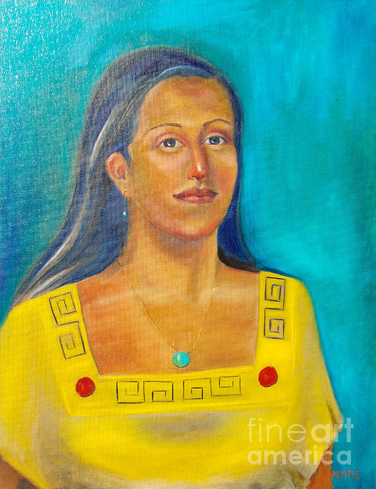 Aztec Painting - Princess Izta by Lilibeth Andre