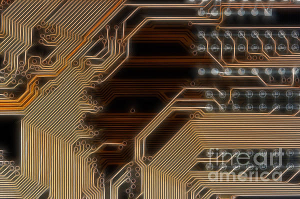 Technology Digital Art - Printed Curcuit by Michal Boubin