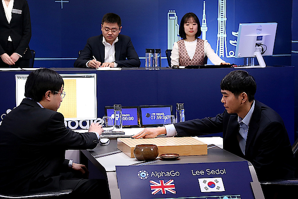 Professional go Player Lee Se-dol Plays Googles Alphago - Last Day Photograph by Handout