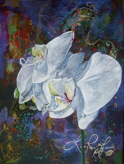 Orchids Painting - Profile by Laura Pierre-Louis