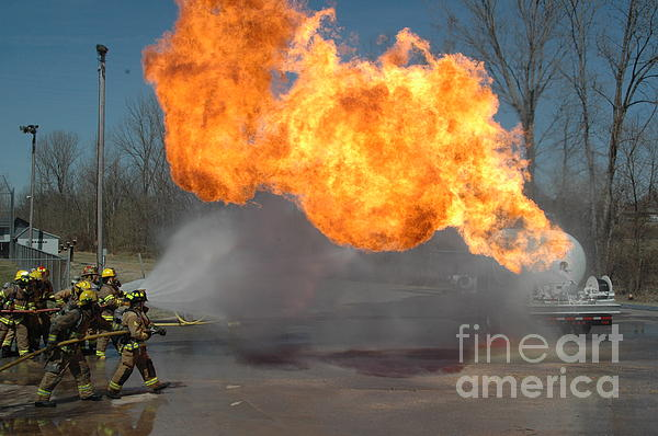 Firefighters Photograph - Propane Burn by Steven Townsend