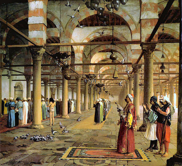 Cairo Digital Art - Public Prayer In The Mosque  by Jean Leon Gerome