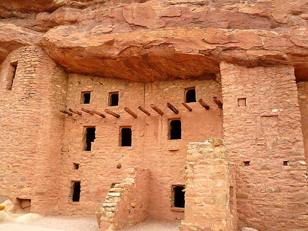 Native American Photograph - Pueblo Cliff Dwellings by Tony Crehan