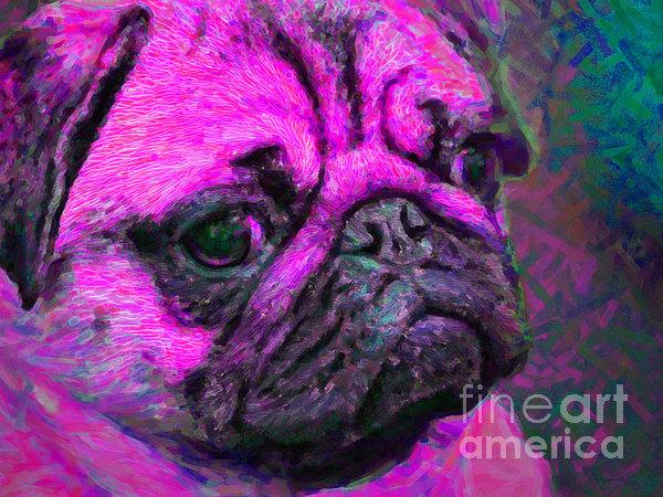 Animal Photograph - Pug 20130126v3 by Wingsdomain Art and Photography