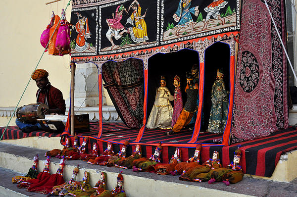India Photograph - Puppet Show City Palace Jaipur India by Diane Lent