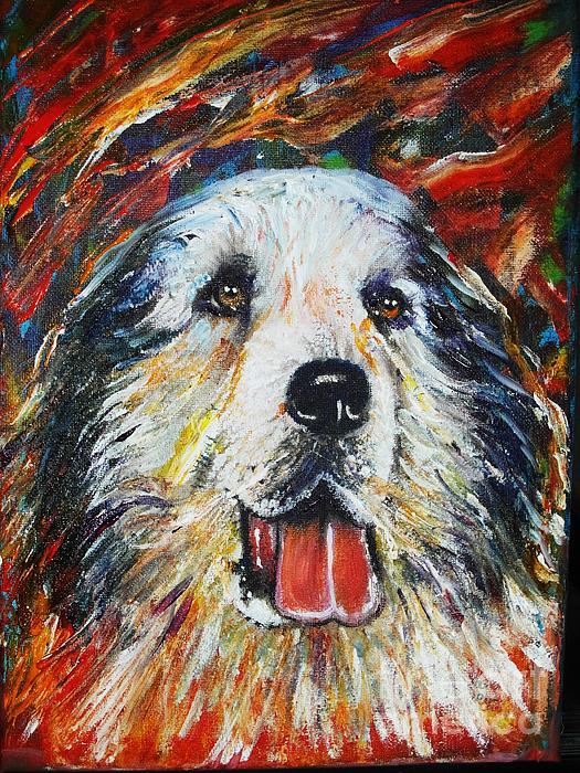 Pyrenean Painting - Pyrenean Mountain Dog by Anastasis  Anastasi