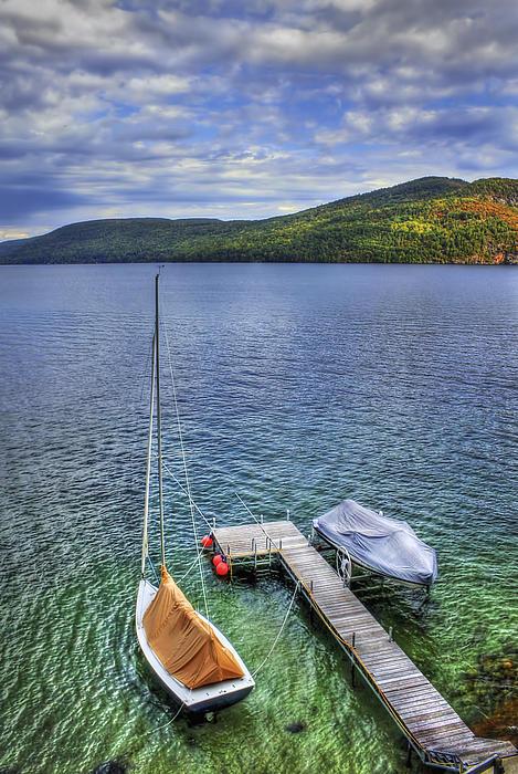 Adirondacks Photograph - Quiet Jetty by Evelina Kremsdorf