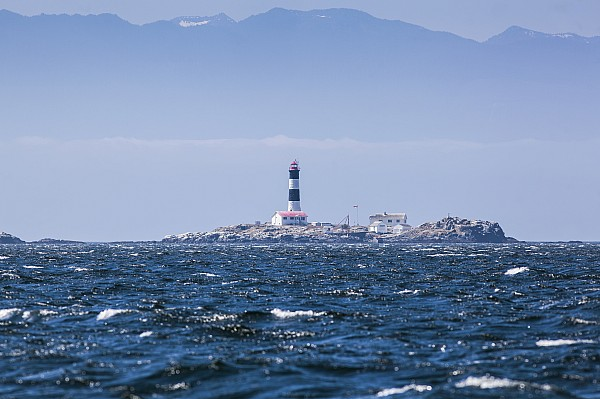 Coastline Photograph - Race Rocks Lighthouse Is Situated by Debra Brash