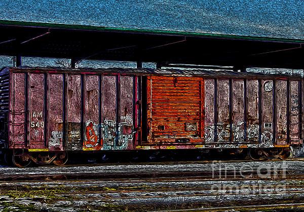 Rail Car Photograph - Rail Car Art by R McLellan