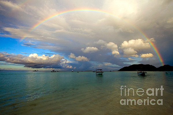 Seychelles Photograph - Rainbow In The Seychelles by Tim Holt