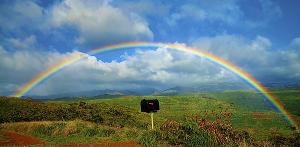 Amazing Photograph - Rainbow Over A Mailbox by Kicka Witte