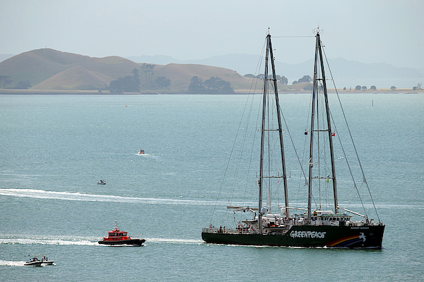 Rainbow Warrior Arrives In Auckland Photograph by Phil Walter
