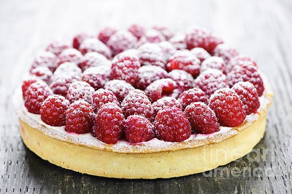 Tart Photograph - Raspberry Tart by Elena Elisseeva