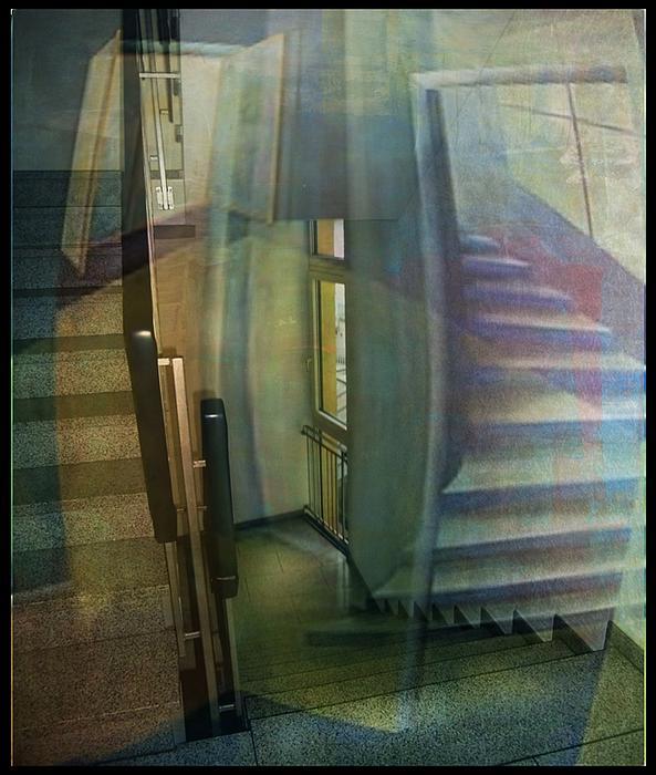 Raumbild Mixed Media - Raumirritation 35 by Gertrude Scheffler