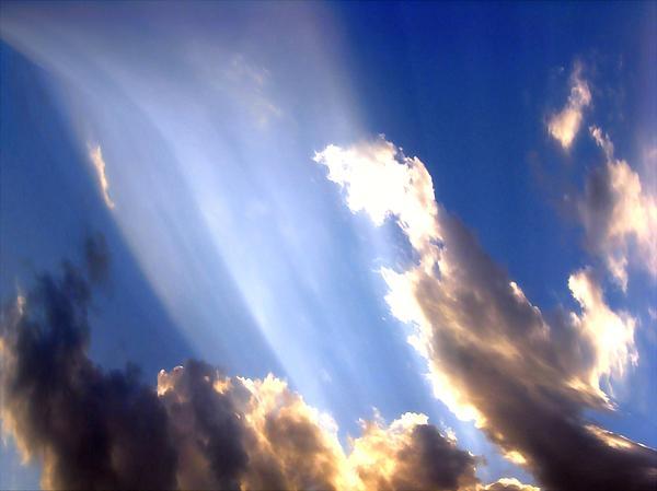 Sky Photograph - Rays Of Light by Jose Lopez