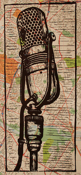 Rca Drawing - Rca 77 On Austin Map by William Cauthern