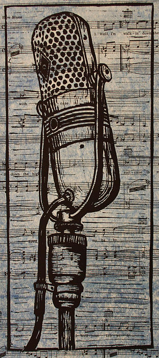 Rca Drawing - Rca 77 On Music by William Cauthern