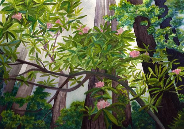 Forest Painting - Reach For The Sky by Vikki Wicks