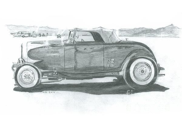 1932 Drawing - Real Car Guy...real Car by Stacey Becker