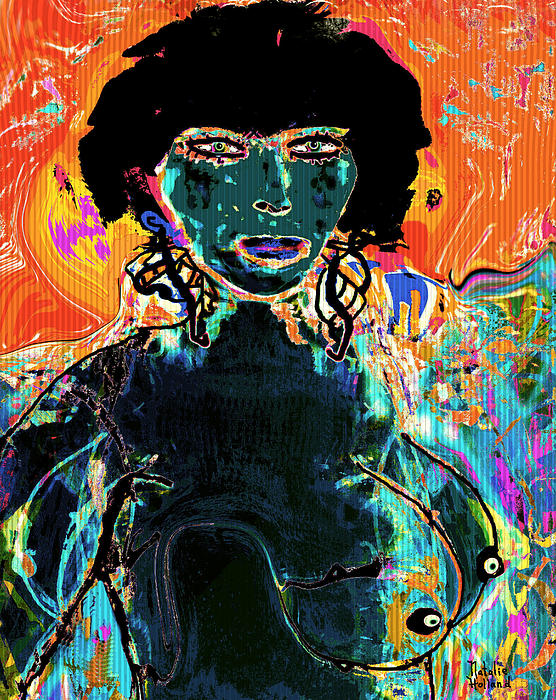 Nude Mixed Media - Rebel by Natalie Holland