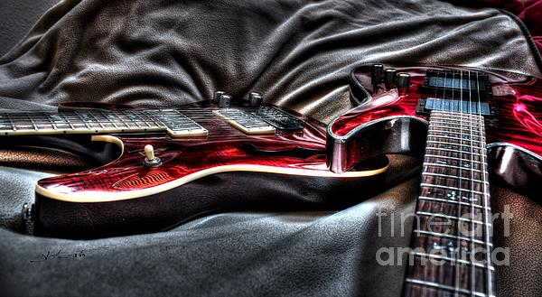 Acoustic Photograph - Red And Ready Digital Guitar Art By Steven Langston by Steven Lebron Langston